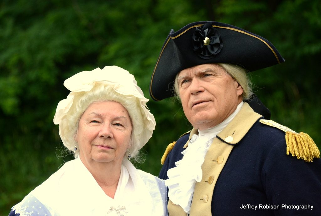 First-person interpreters of George and Martha Washington.